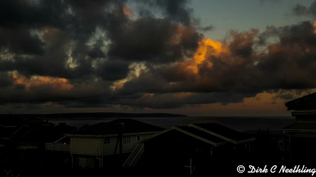 Boggomsbaai clouds at sunset by Dirk C. Neethling