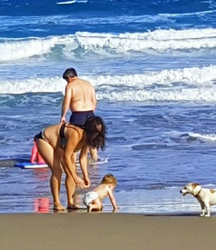 Family time at the beach by Truida Neethling