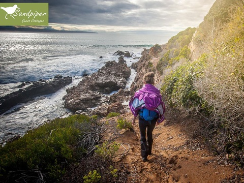 slack packing on the oyster catcher beach trail near Mossel Bay